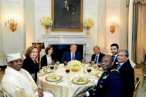 Ambassador Ziauddin attends Iftar at White House on 6 June 2018