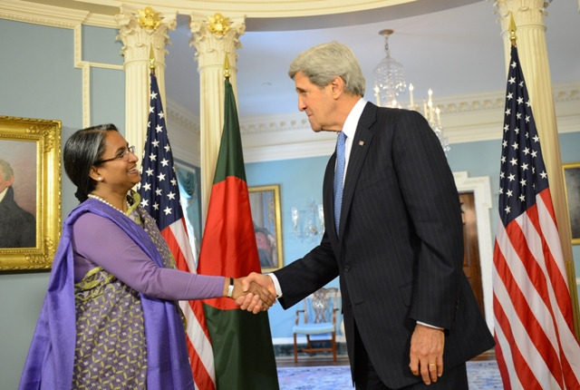 Former Foreign Minister Dr. Dipu Moni and US Secretary of State John Kerry